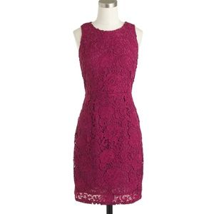 J. Crew Sleeveless Floral Lace Sheath Dress 6 6P